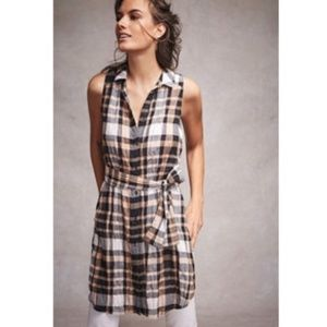 Anthropologie Holding Horse SUNLIT PLAID TUNIC new